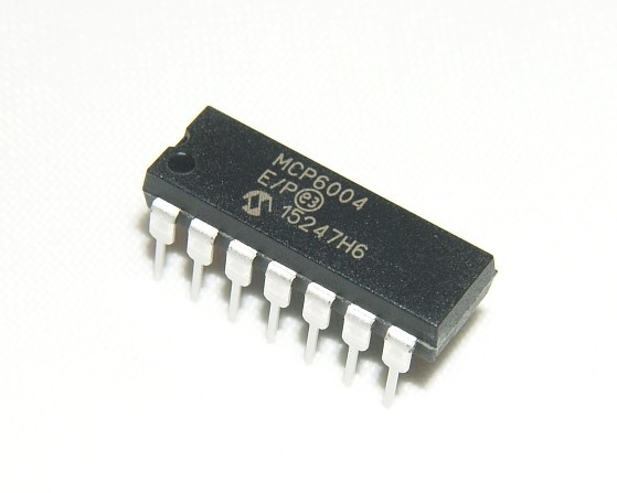 MCP6004-E/P Rail-to-Rail operational amplifier